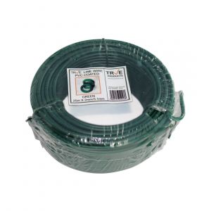 Galvanised Line Wire - Green PVC Coated 25m